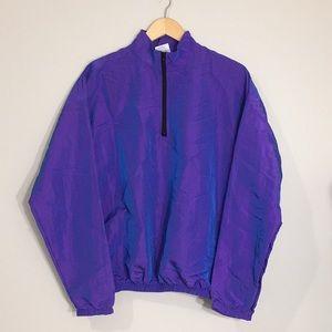 [Vintage] Holographic Purple Windbreaker